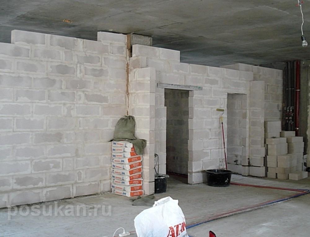 Рекомендации по межкомнатным стенам
