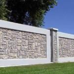 Забор из литого бетона