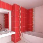 Оформление стен в ванной комнате