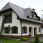 Отделка здания фасада штукатуркой, дешево и практично