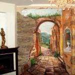 Настенные фрески в современном интерьере