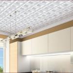 Кухня, отделка потолка.