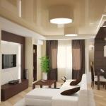 Дизайн гостиной и столовой