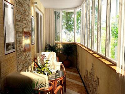 Балкон в стиле кантри