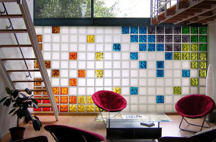 Достоинства стеклянных блоков