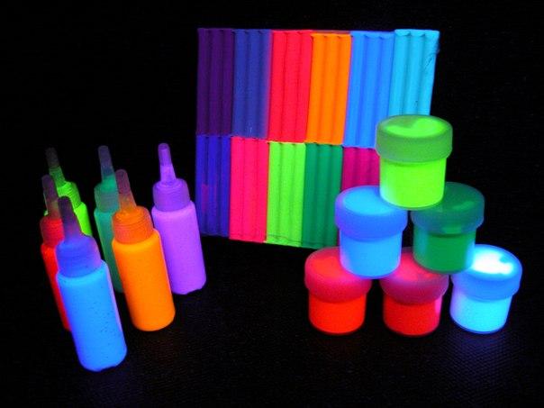 Флуоресцентная краска своими руками фото