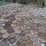 Подготовка деревянных спилов