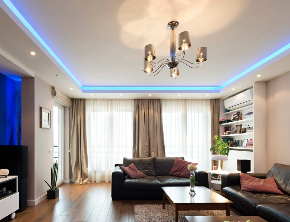 Светодиодные светильники в интерьере квартиры